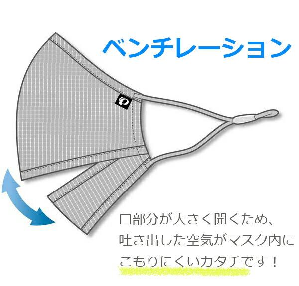 パールイズミ MSK-03ベンチレーションマスク 自転車 スポーツマスク 呼吸がしやすい