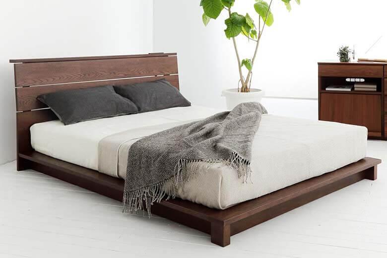 厚みのあるマットレスにおすすめの木製ベッド『スケイプ』