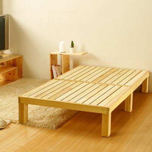 職人技が光る軽量で丈夫な作り 国内製造 桐すのこベッド (シングル)