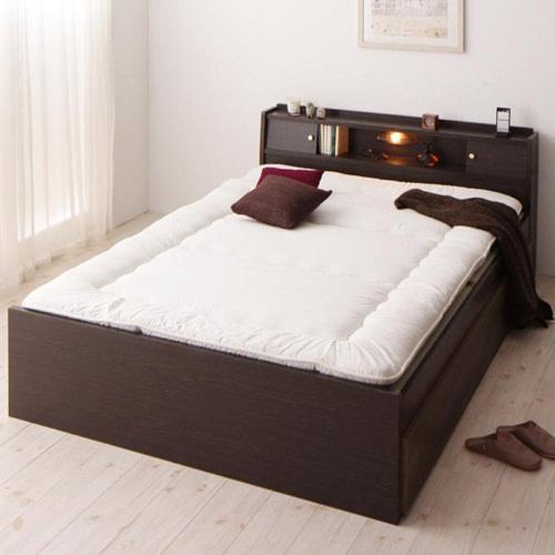 使う人に合わせて考えた 棚・照明・コンセント付畳ベッド (ダブル)
