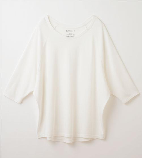 竹布ドルマン七分袖Tシャツ(レディース)
