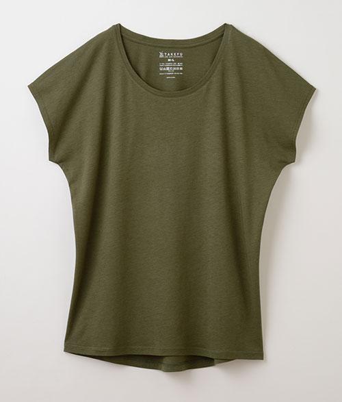 竹布フレンチスリーブTシャツ(レディース)