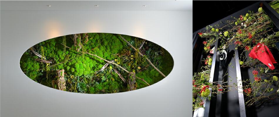 安藤忠雄建築の装飾と生花日本一の作品
