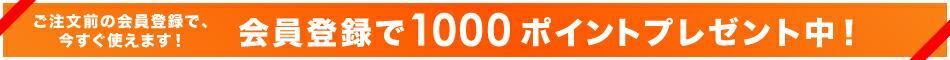 会員登録で1000Pプレゼント