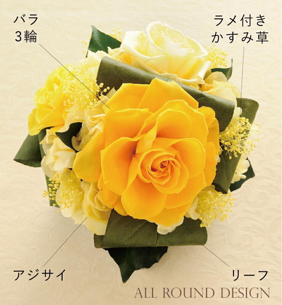キューブS 花材画像