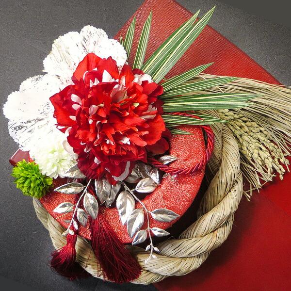 紅白の芍薬