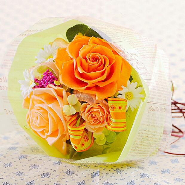 リボン入りの花束ローズブーケ