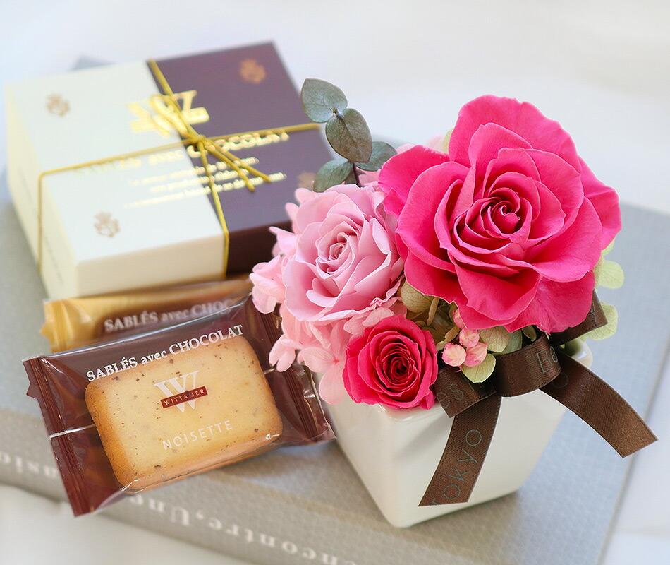 花とヴィタメールのショコラスイーツセット