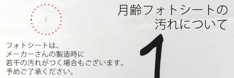 【出産祝い】月齢フォトシート汚れ