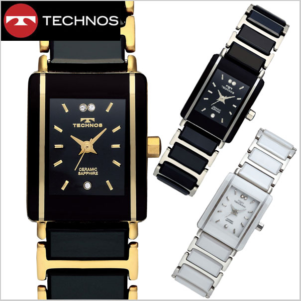 Bell field rakuten global market technos watch ladies ceramic stainless steel tsl906 for Technos watches