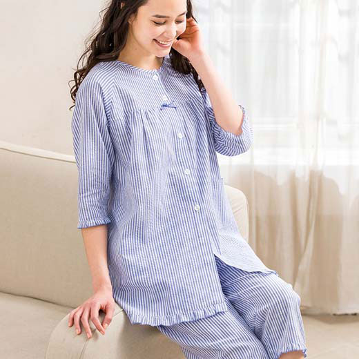 涼やか前開きパジャマ