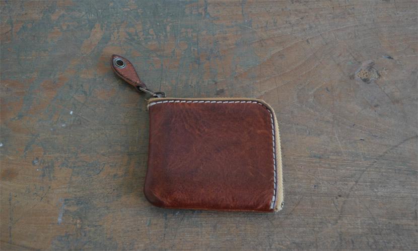 BL-PT-0015 コンパクト財布 レッドブラウン