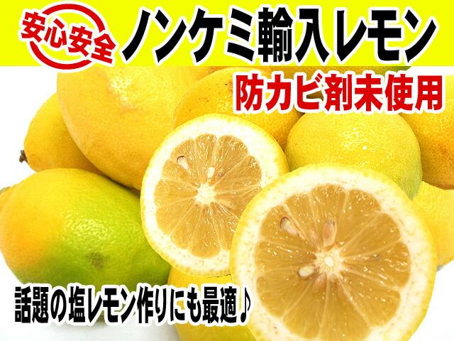 ノンケミカル 防カビ剤未使用 安全輸入レモン レモン 果物 フルーツ 柑橘 ビタミンC