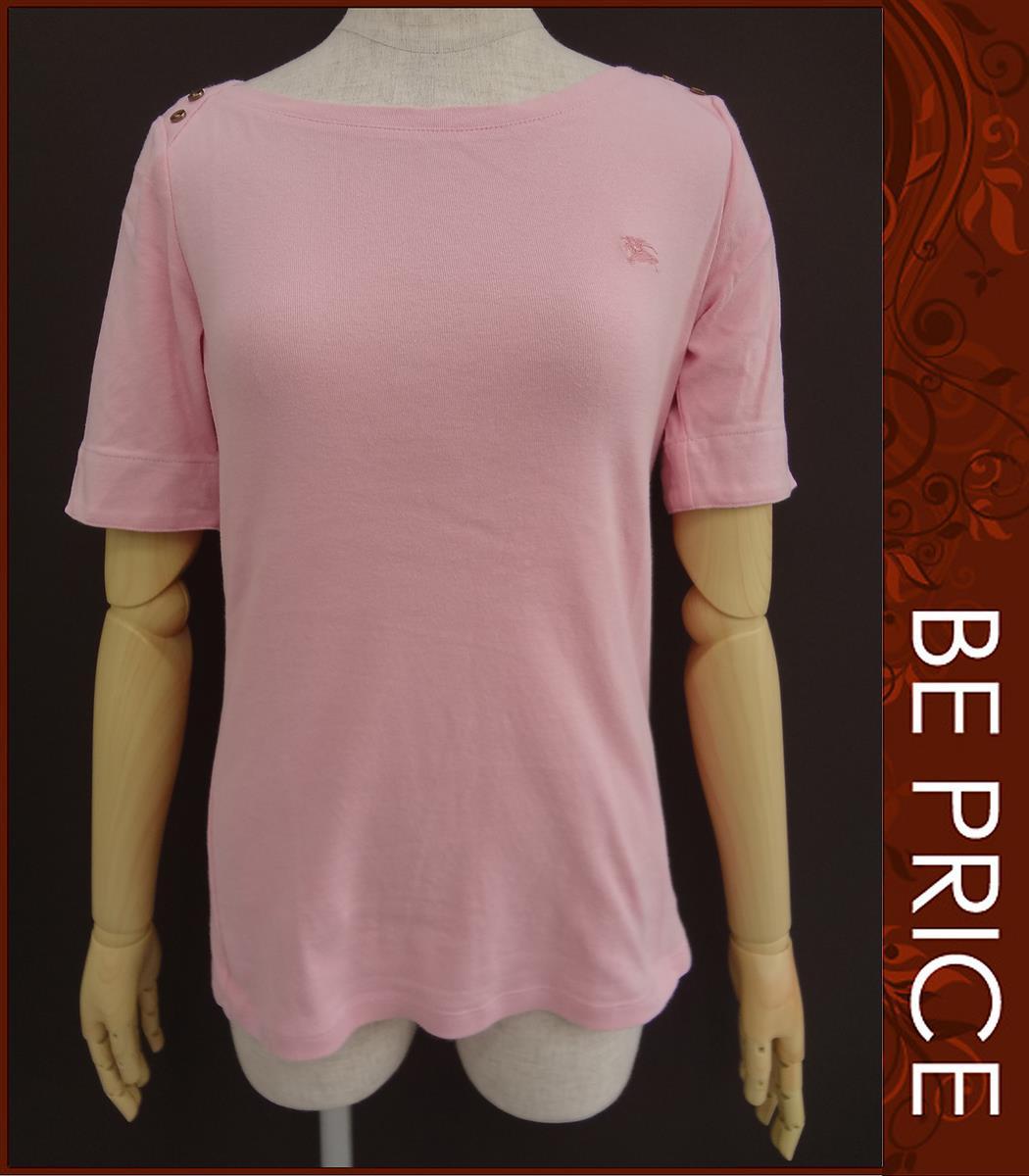 バーバリーブルーレーベル Tシャツ カットソー 半袖トップス カットソー ピンク
