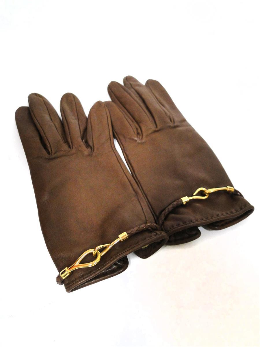 エルメス レザー手袋 グローブ