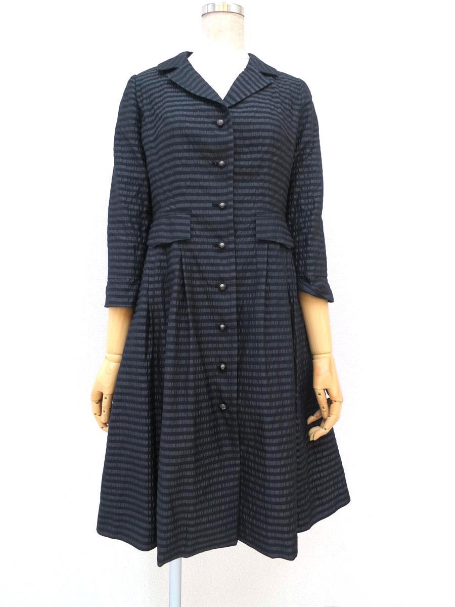ルネ 長袖コートワンピース スカート裾変色