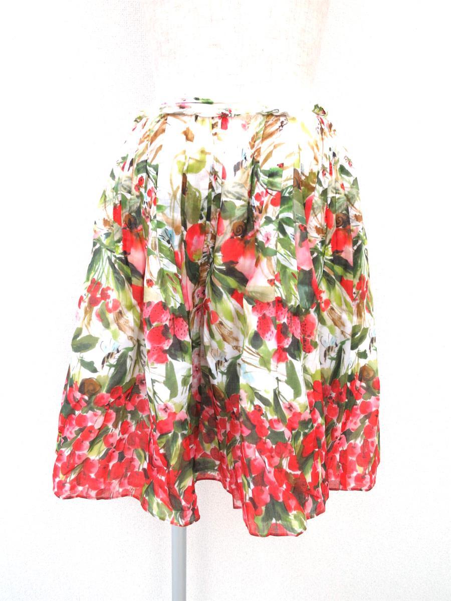 ヴァレンティノ フレアスカート 花柄