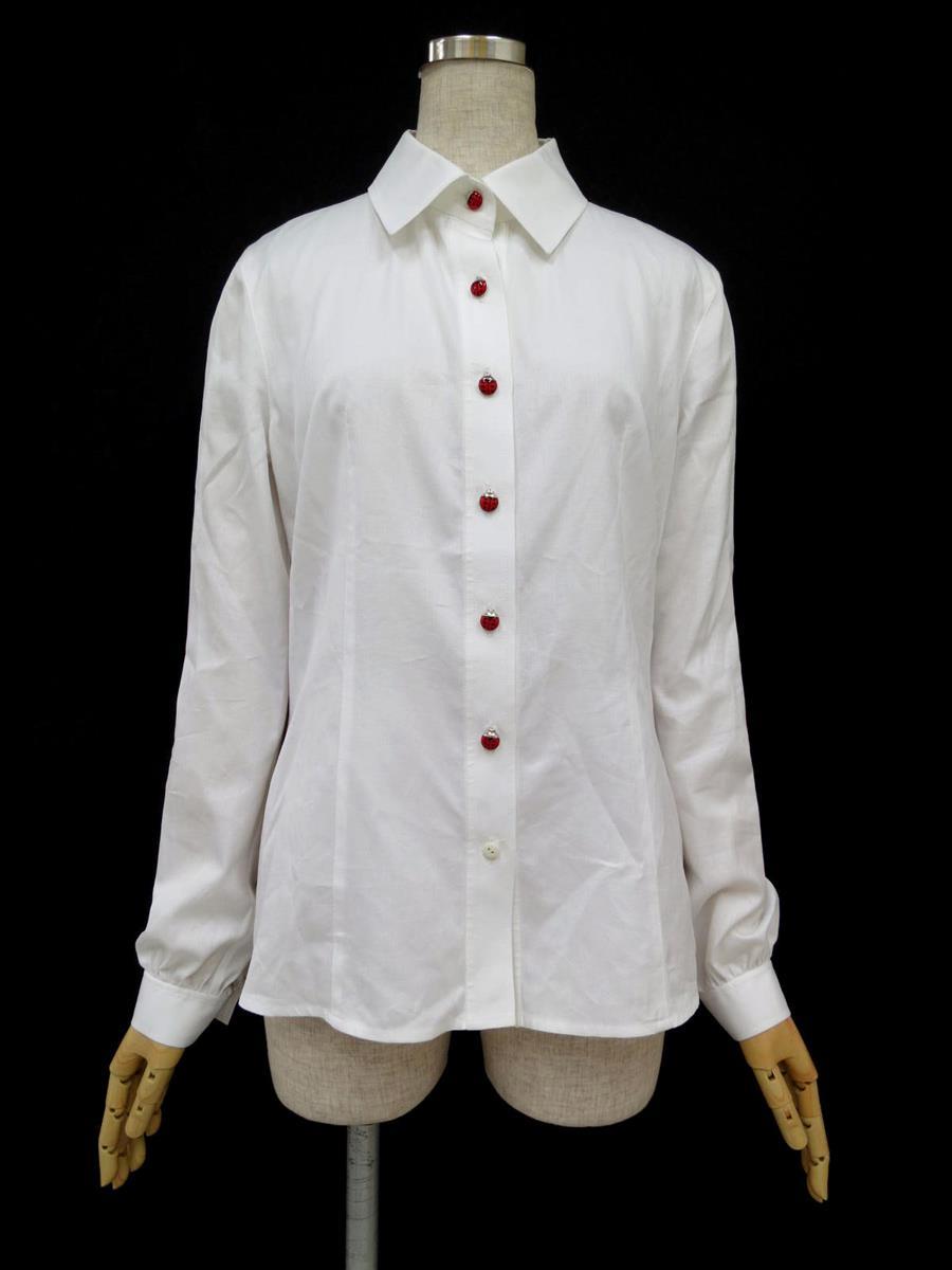 ルネ シャツ ブラウス 長袖ブラウスシャツ 薄っすら色あせあり