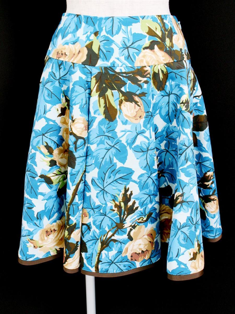 エムズグレイシー 花柄フレアスカート