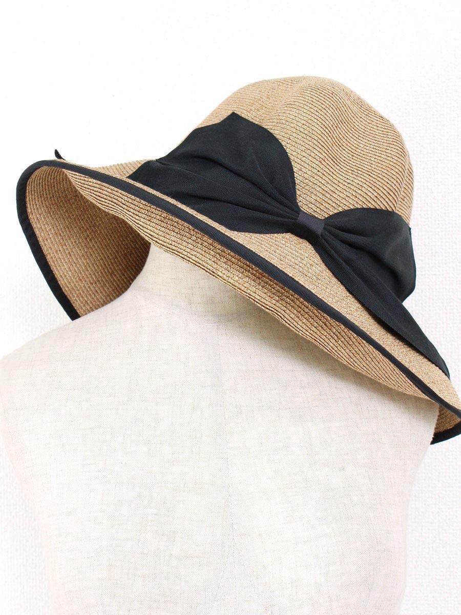 アシーナニューヨーク 麦わら帽子 【Athena NEW YORK/アシーナニューヨーク】リボン付きハット帽子