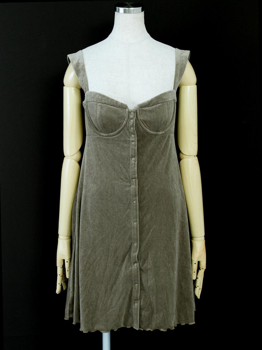 ナチュラルbyフォクシー ワンピース MOISTURE BIJIN ドレス ベロア