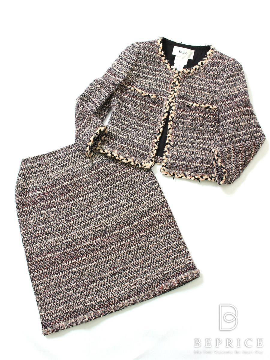 ルネ スーツ ツイードジャケット スカート