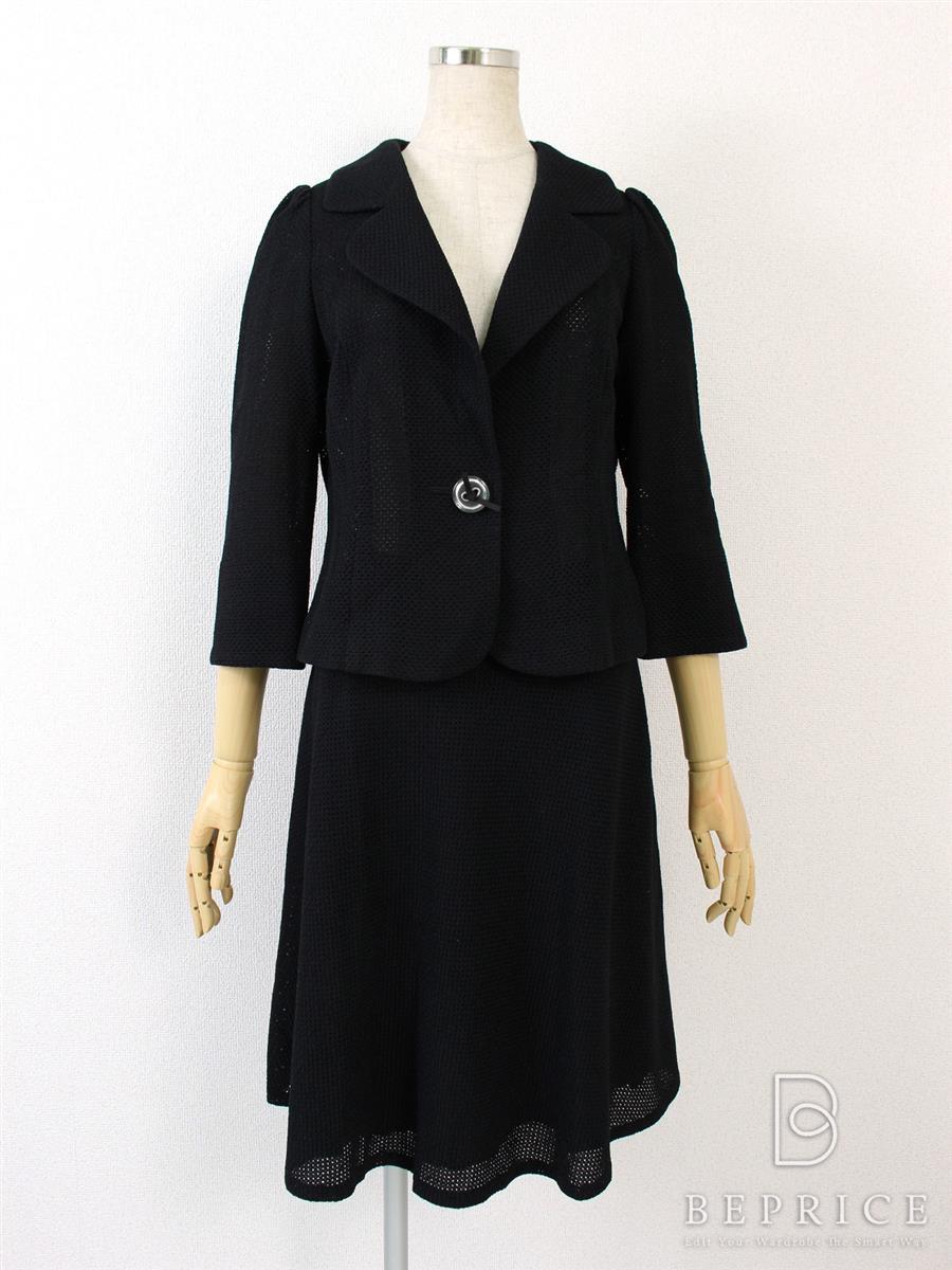 エムズグレイシー スーツ スカートジャケット サマーニット