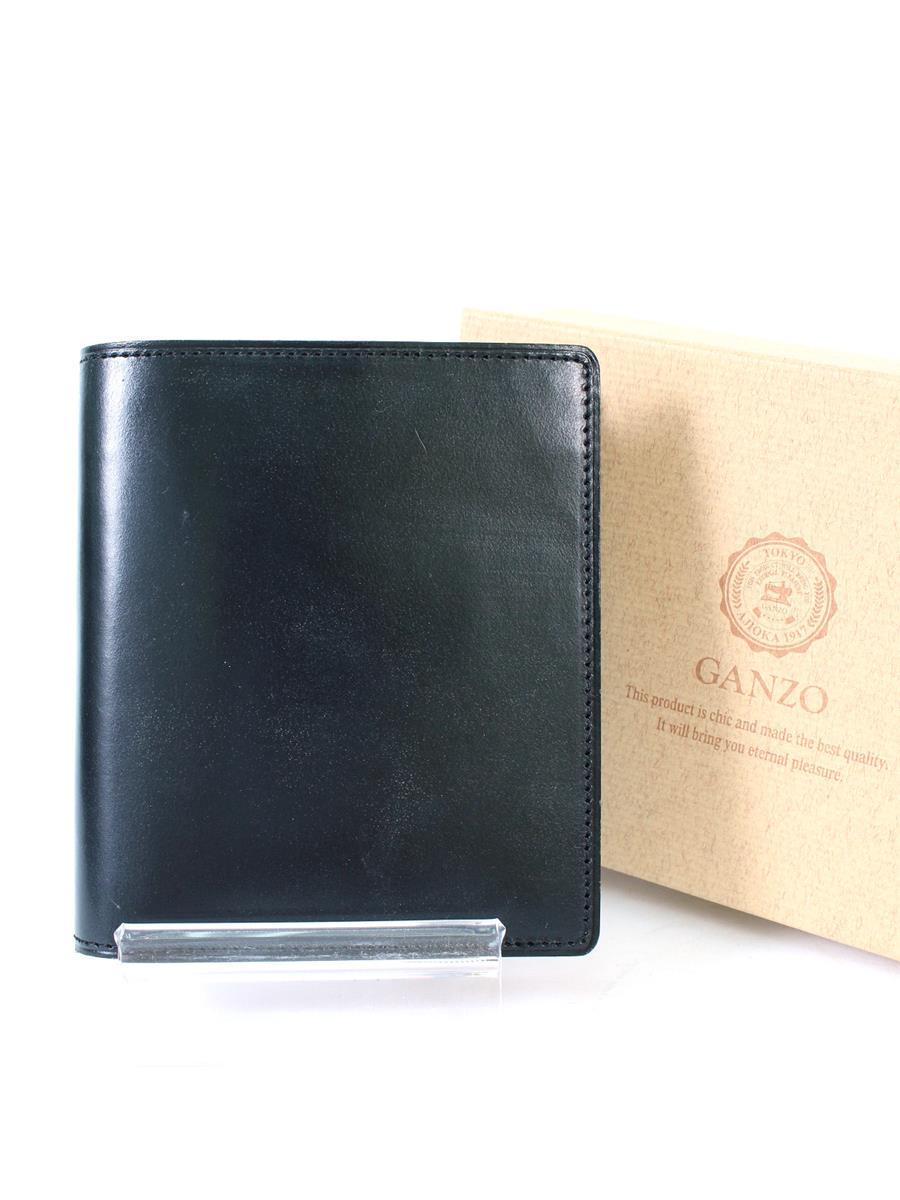 ガンゾ シンブライドル 57227 二つ折り財布 小銭入れ付 変色 ヤケ