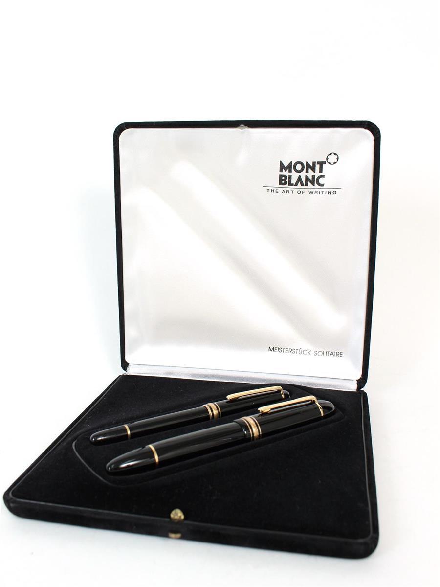 モンブラン 万年筆 マイスターシューテック2本セット ブラック