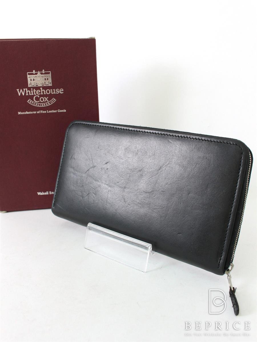 ホワイトハウスコックス 財布 【Whitehouse Cox/ホワイトハウスコックス】ラウンドファスナー長財布