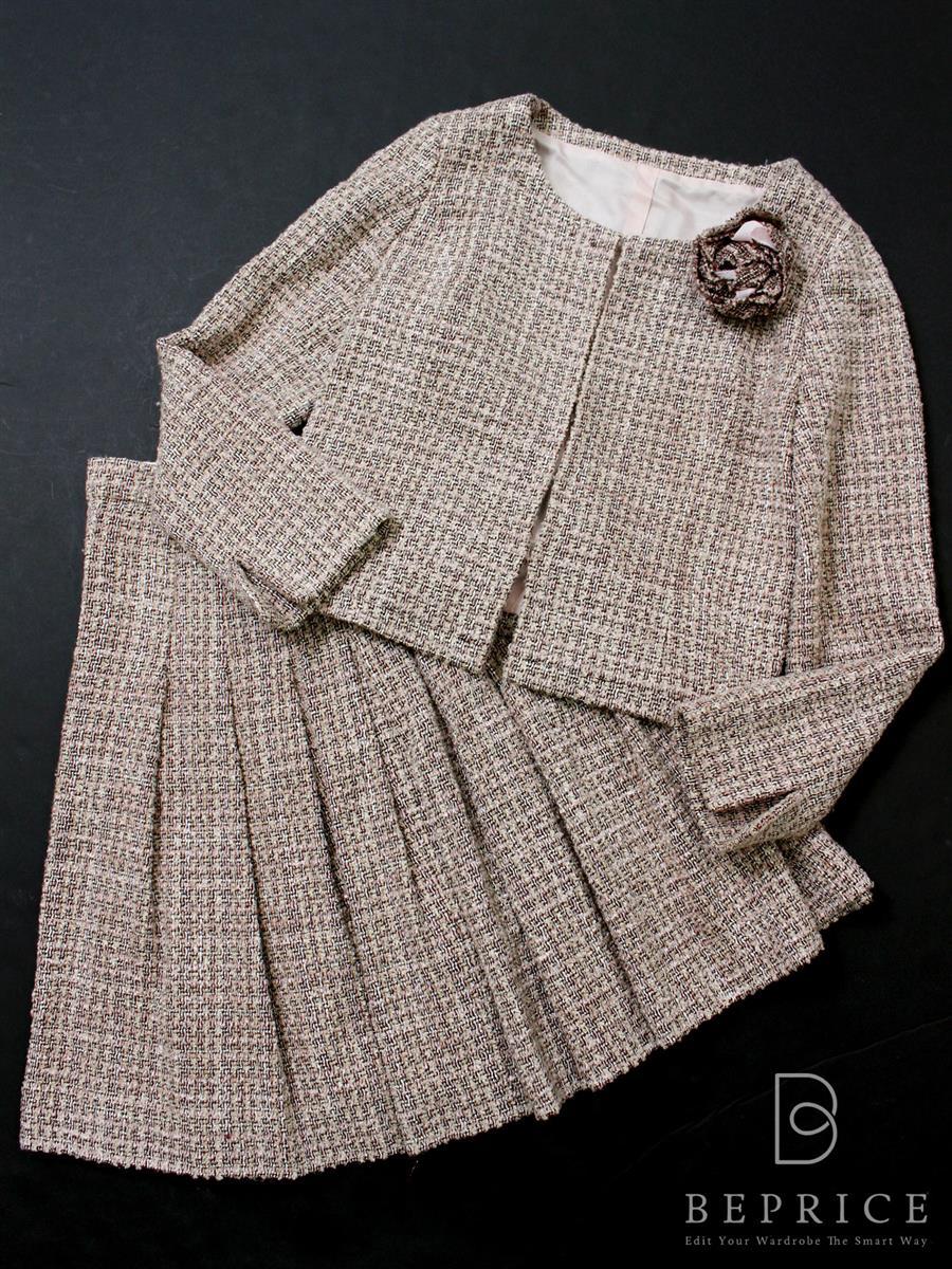 ハロッズ スカートスーツ ジャケット ツイード スカート