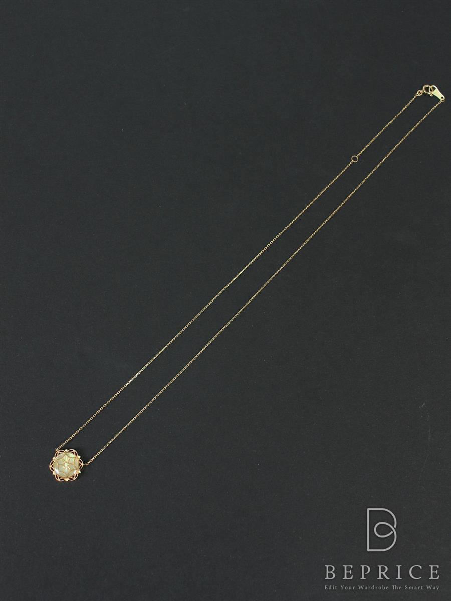 アガット ネックレス k10金 ゴールド