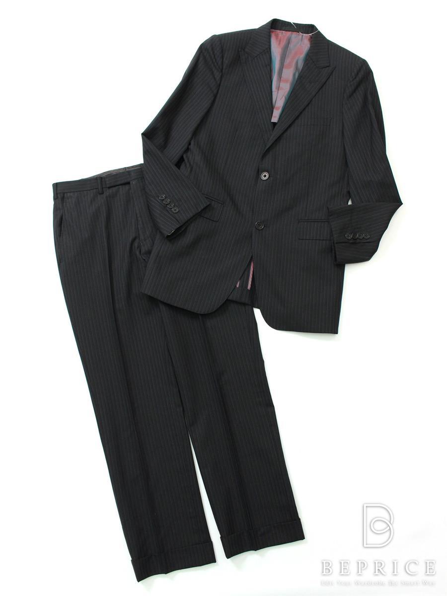 スーツ ジャケット ストライプ 2B