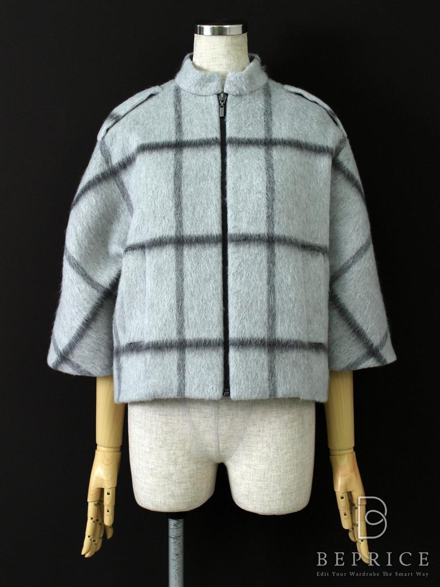 フォクシーニューヨーク ジャケット Windowpane Mohair Crop Coat