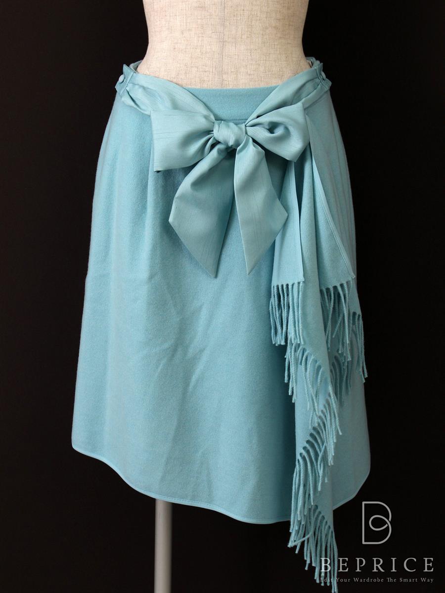 トゥービーシック スカート フリンジ ブルー