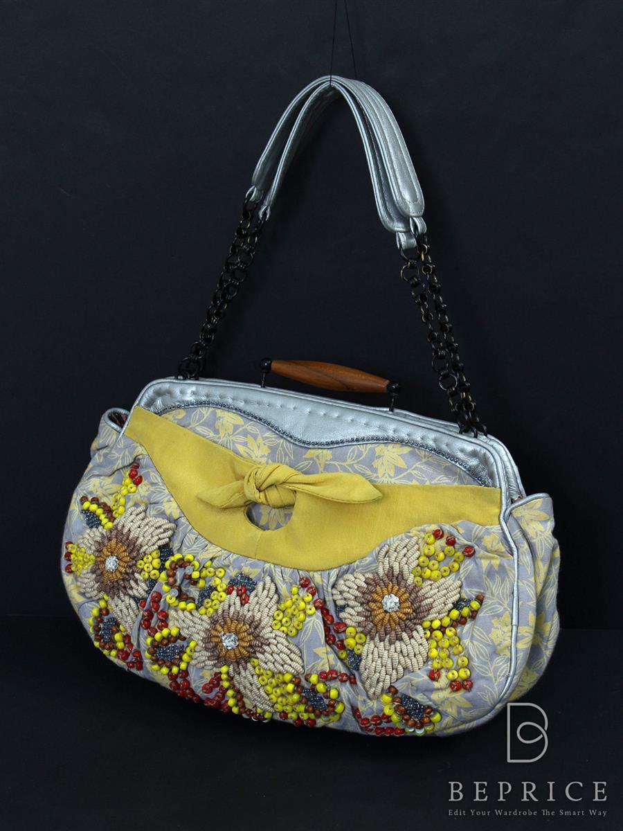 ジャマンピュエッシュ ビーズ刺繍ハンドバッグ