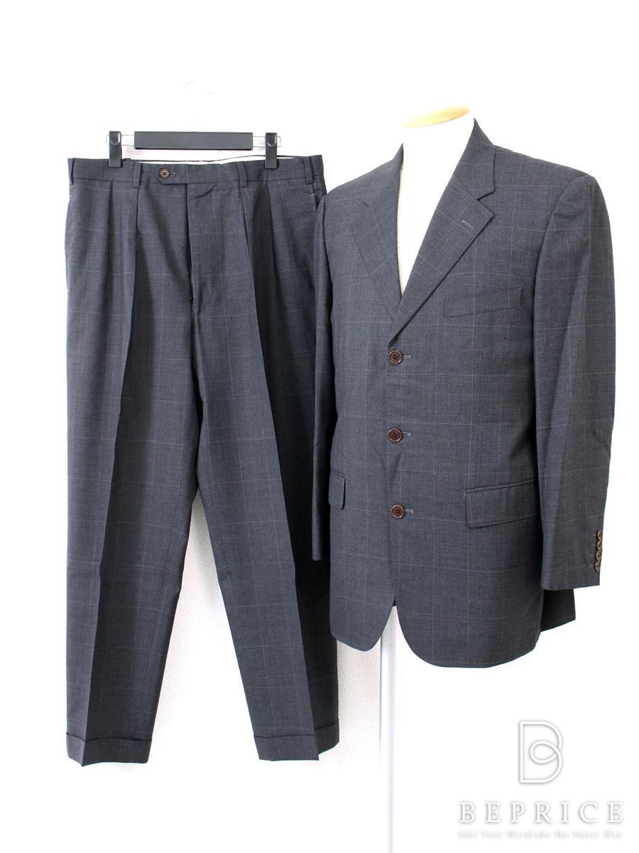 ビームスエフ スーツ ビジネス 3B チェック