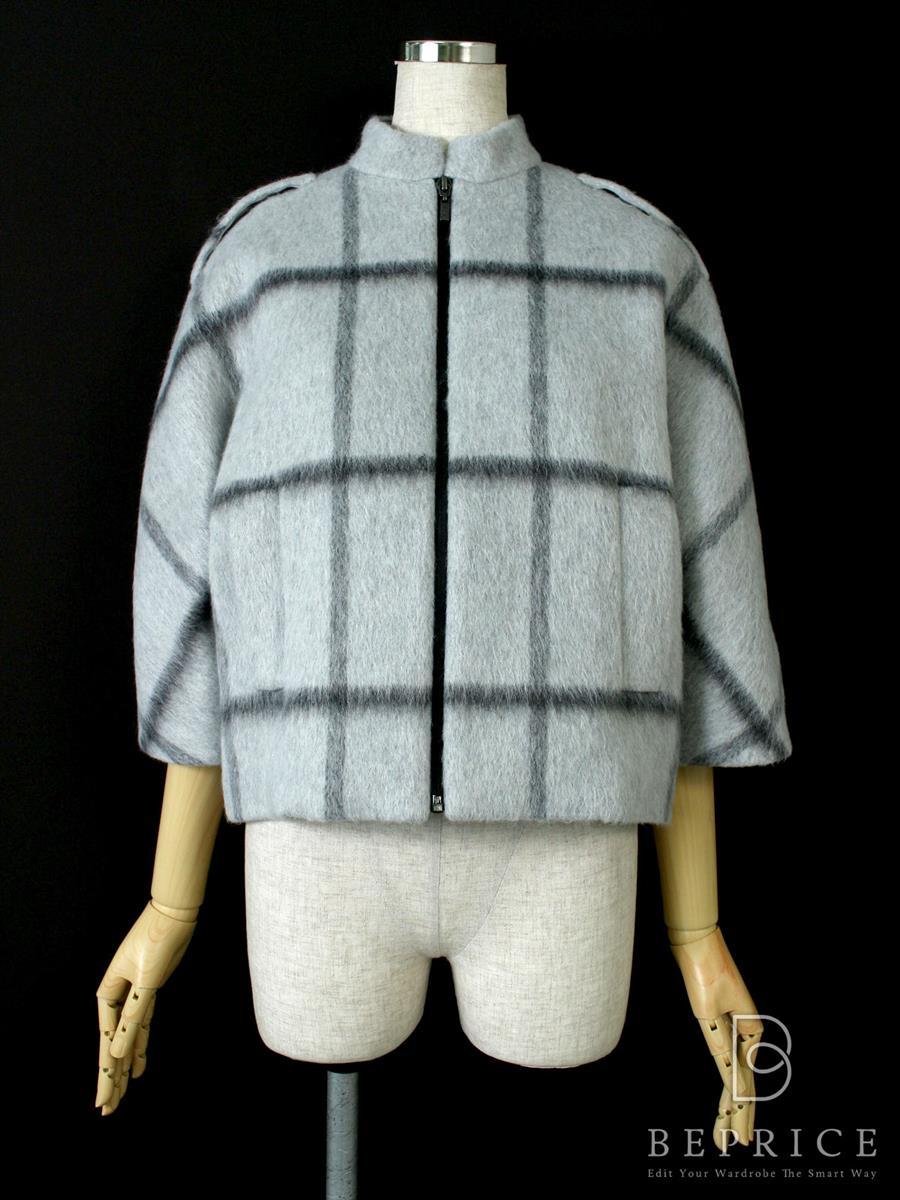 フォクシー コート Windowpane Mohair Crop Coat Collection