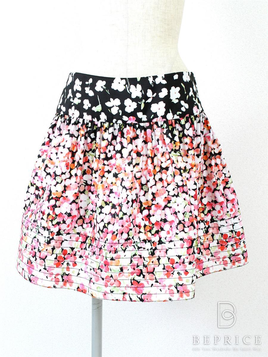 レッドヴァレンティノ スカート ストラップ 花柄 ピンク
