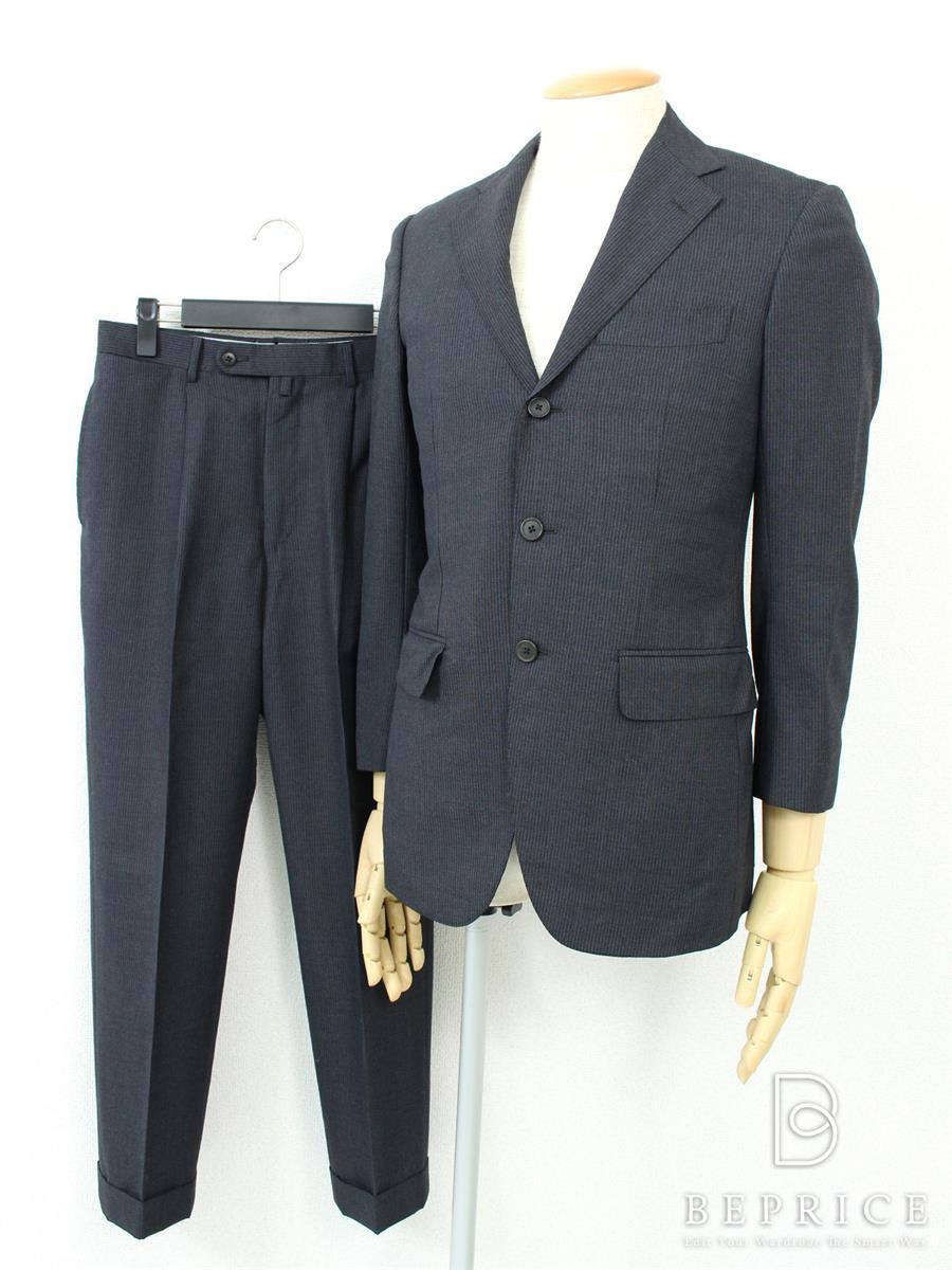 ビームスエフ スーツ ジャケット 3B パンツ裏地変色あり