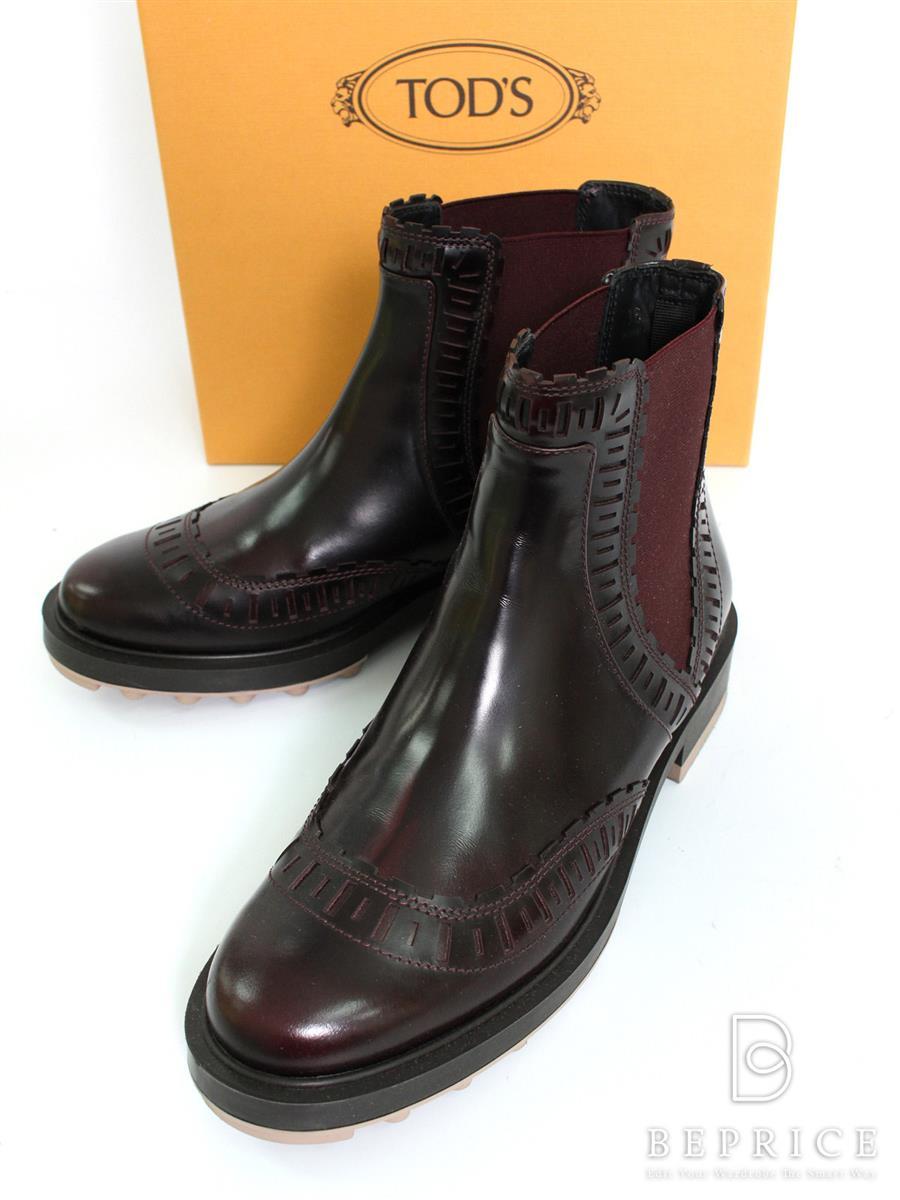 トッズ ブーツ サイドゴム