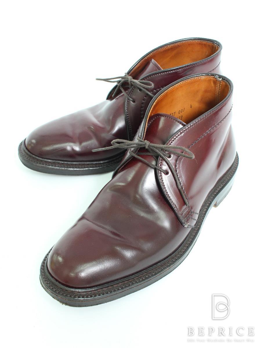 オールデン 靴 チャッカブーツ ブラウン