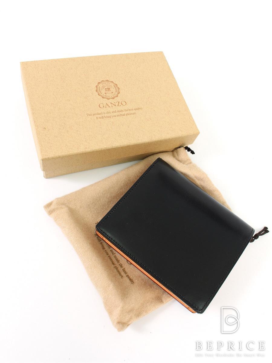 ガンゾ シンブライドル 57188 大型二つ折り財布 汚れ変色