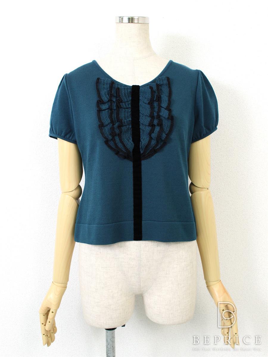 ルネ Tシャツ カットソー トップス 半袖 胸元フリル