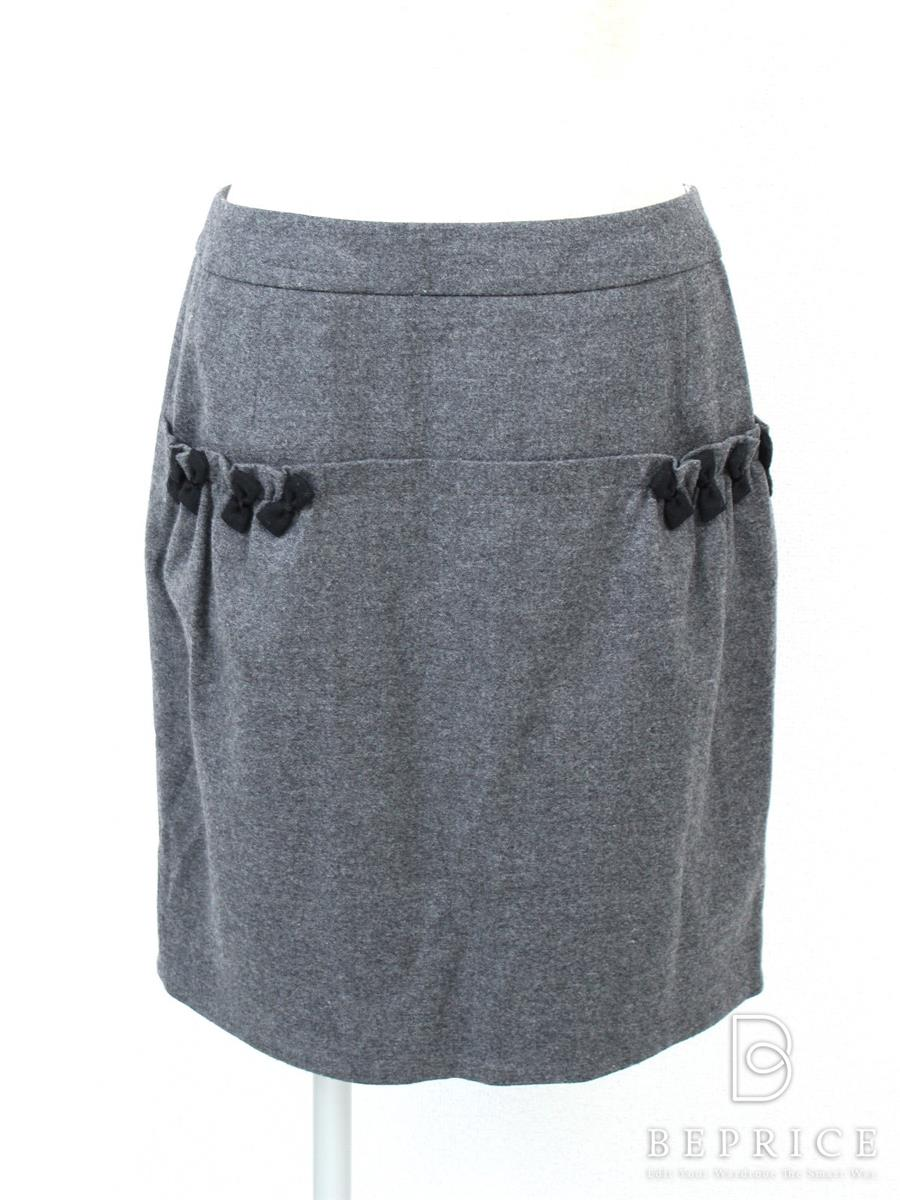 ルネ スカート ポケットリボン