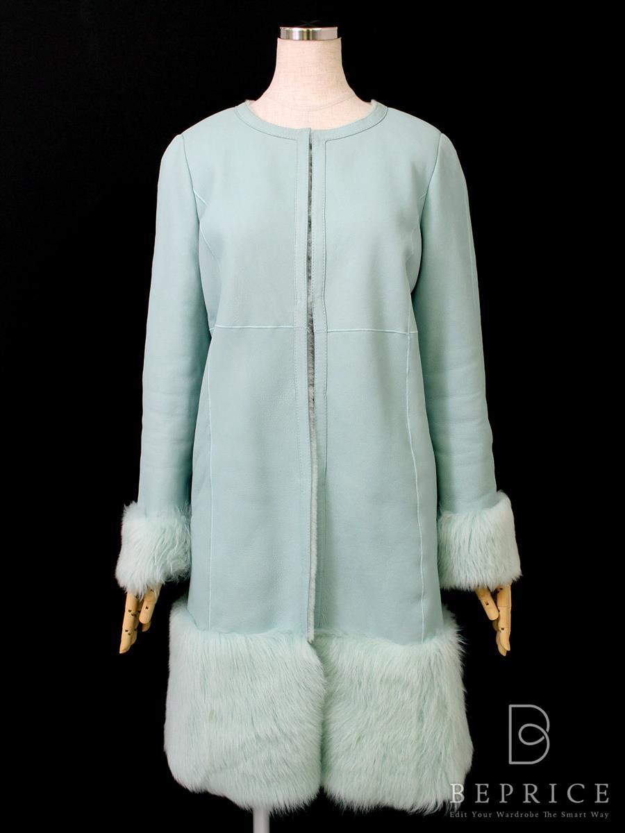 コート ロング 羊革