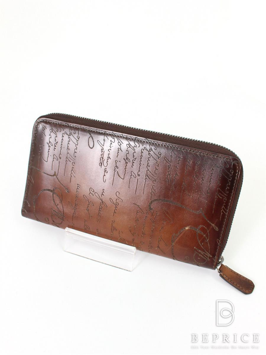 ベルルッティ 財布 ラウンドファスナー カリグラフィ