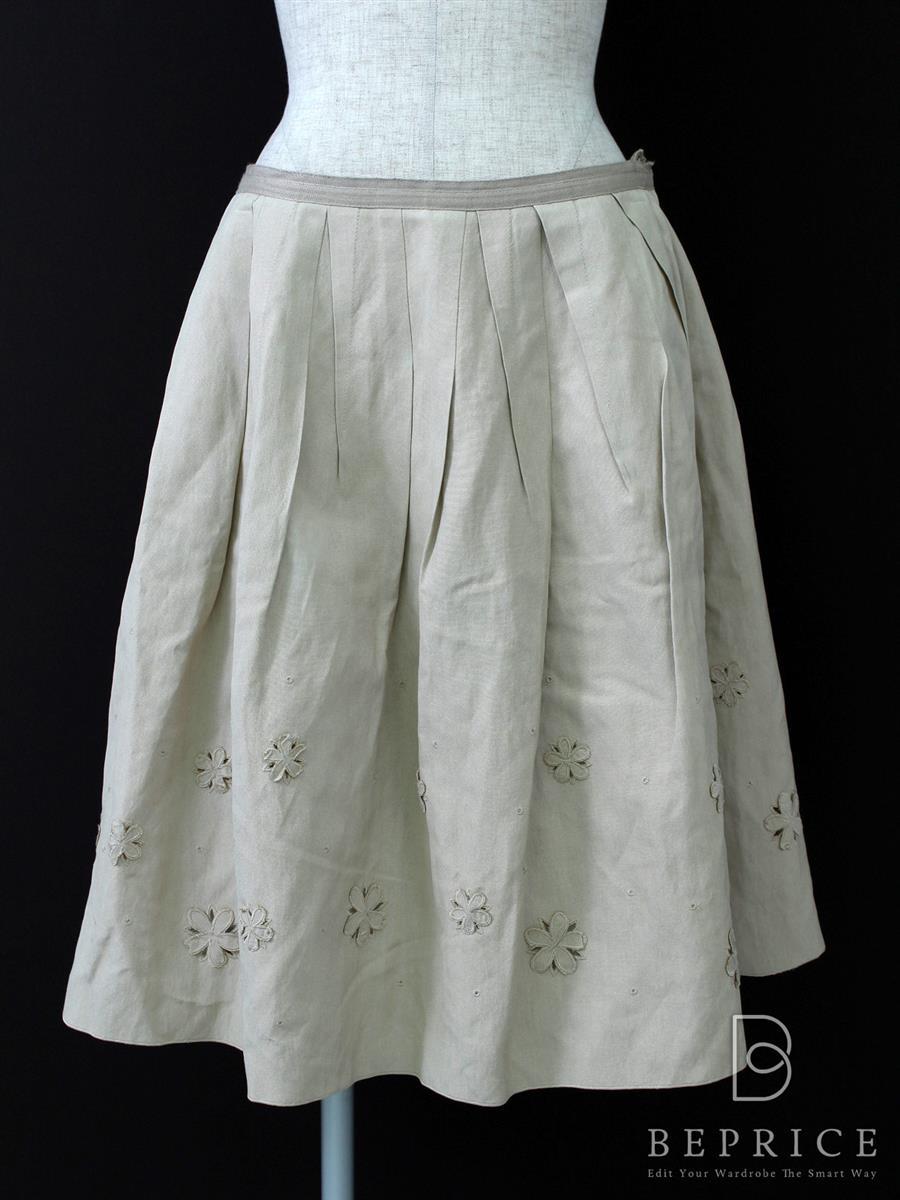 フォクシーブティック スカート シルク和紙
