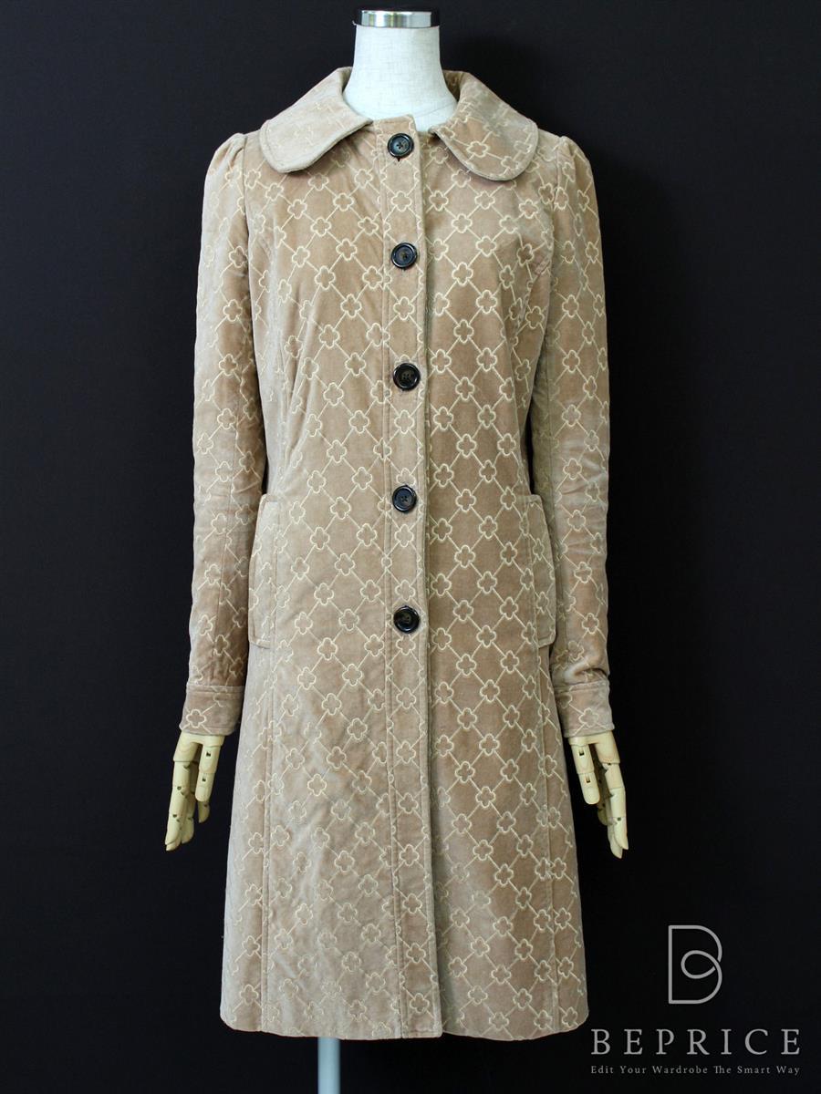 トッカ コート コート クローバー柄
