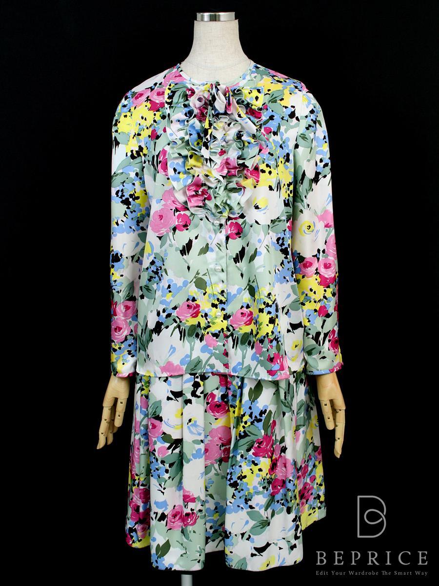 エムズグレイシー セットアップ セットアップ スカート ブラウス 花柄